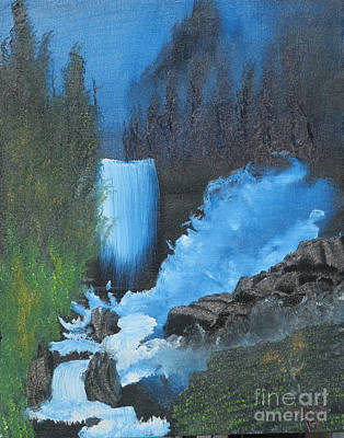 Falls On The Rocks Original by Dave Atkins