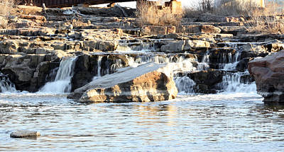 Falls Park Waterfalls Print by Lori Tordsen