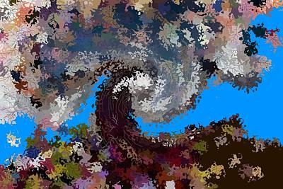 Lyrical Digital Art - Fall's Splendor by Christine Mulgrew