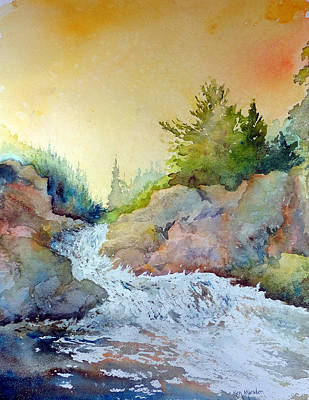 Painting - Falls2012 by Ken Marsden