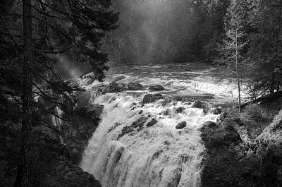 Photograph - Waterfall Magic - Bw by Marilyn Wilson