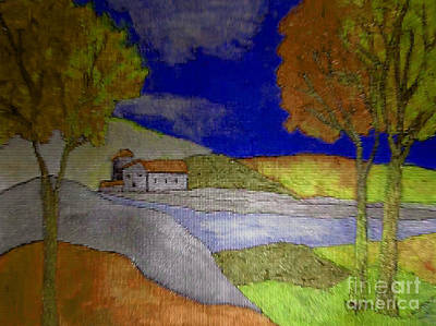 Painting - Fallscape by Iris Gelbart