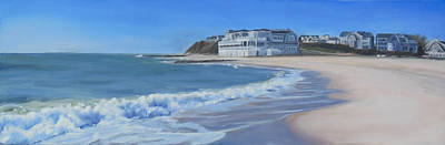 Cape Cod Painting - Falmouth Heights Beach Cape Cod by Sue Birkenshaw