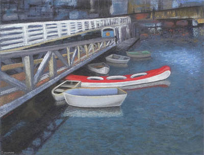 False Creek Ferry Landing Art Print