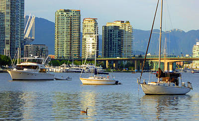 Photograph - False Creek Sunset 6 by Laurie Tsemak
