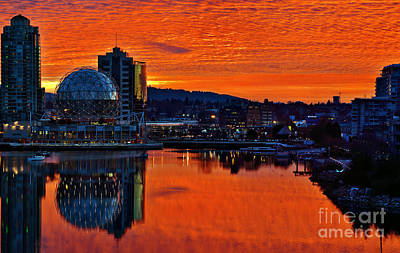 Photograph - False Creek Super Sunrise by Terry Elniski