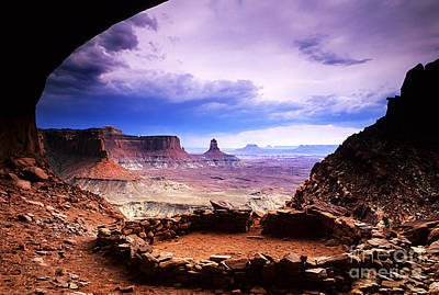 Kiva Photograph - False Kiva Canyonlands Utah by Bob Christopher