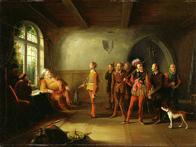 Falstaff Painting - Falstaff And The Recruits, From Henry Iv by Litz Collection