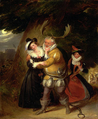Falstaff Painting - Falstaff At Hernes Oak, From The Merry Wives Of Windsor by Litz Collection