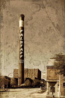 Lemp Brewery Photograph - Falstaff Smoke Stack St Louis Dsc03700 by Greg Kluempers