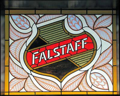 Lemp Brewery Photograph - Falstaff Window by C H Apperson