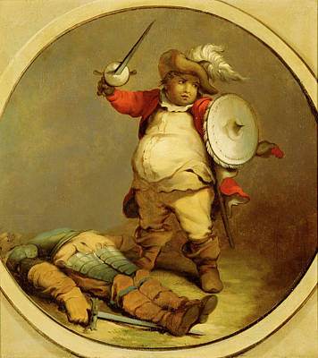 1781 Painting - Falstaff With The Body Of Hotspur Falstaff With The Body by Litz Collection