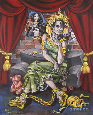 Elizabeth Taylor Painting - Fame by Ellen Marcus