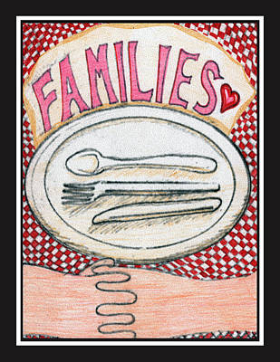 Drawing - Families by Jason Girard