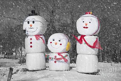 Photograph - Snowman Family by Alana Ranney