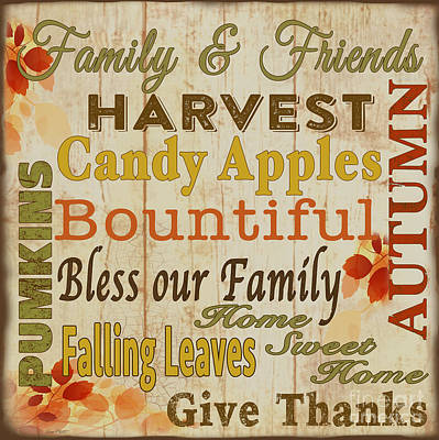 Family And Friends Blessings-d Original by Jean Plout