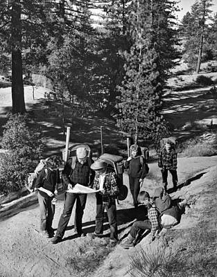 State Of Montana Photograph - Family Backpacking Trip by Underwood Archives
