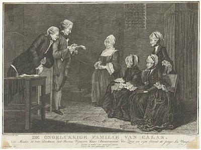 Family Calas In Prison, Christian Friedrich Fritzsch Art Print