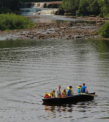 Family Canoeing At Lower Tahquamenon Falls Art Print