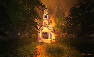 Digital Art - Family Chapel by Kylie Sabra