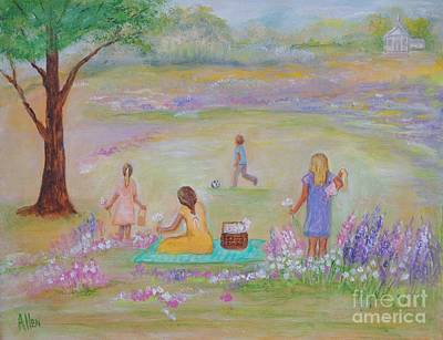 Painting - Family Day by Leslie Allen