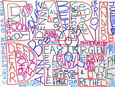 Molly Drawing - Family by E Dan Barker