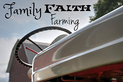 Country Scene Photograph - Family Faith Farming Ford by Michael And Heather Allen