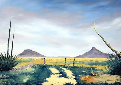 Karoo Painting - Family Farm by Andrew Sanan