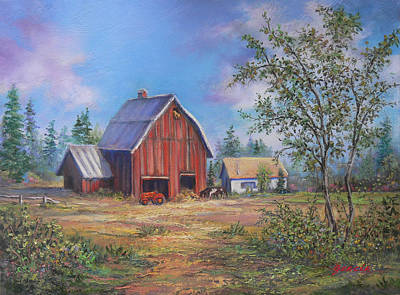 Painting - Family Farm  by Gracia  Molloy