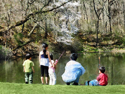 Photograph - Family Fishing by Susan Savad