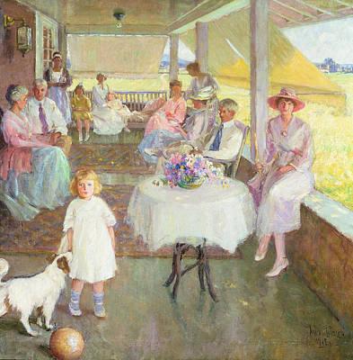 Family Gathering, 1919 Art Print by Pauline Palmer