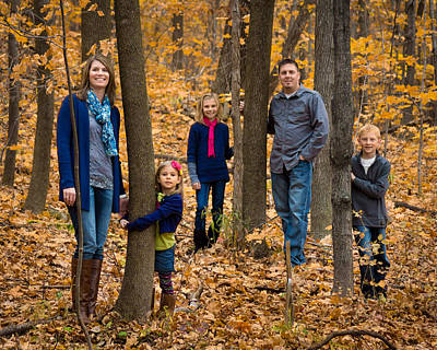 Photograph - Family In The Woods by Bill Pevlor