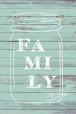 Family Mason Jar Art Print