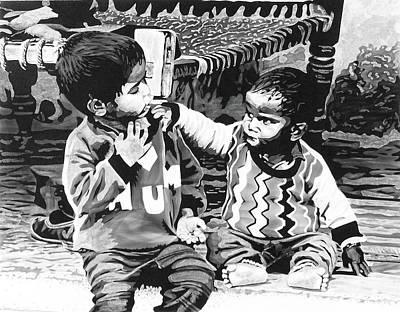 Pen And Ink Drawings For Sale Drawing - Family Matter by Konstantinos-Pimba Botas