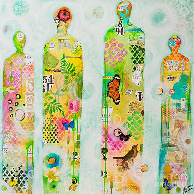 Mixed Media - Family by Melissa Sherbon