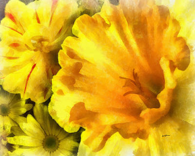 Family Of Flowers Art Print by Anthony Caruso