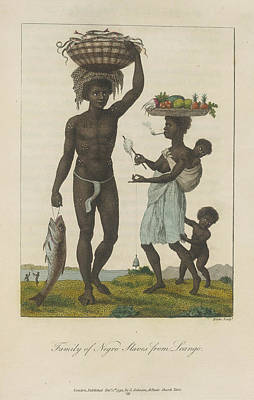Family Of Negro Slaves Art Print by British Library