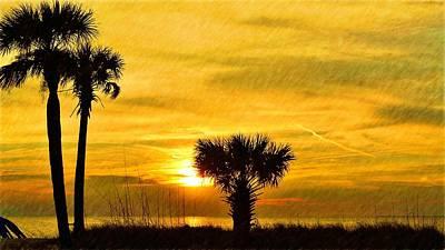 Photograph - Family Of Palms Sunset by Richard Zentner