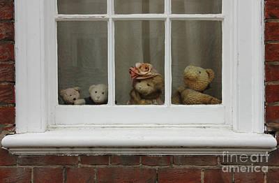 Teddybear Photograph - Family Of Teddy Bears On The Window. by Kiril Stanchev