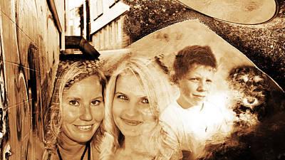 Miniature Schnauzer Digital Art - Family Photo Collage Summer 2011 by Hilde Mariann Hansen