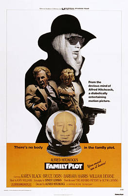 Films By Alfred Hitchcock Photograph - Family Plot, From Top Karen Black by Everett