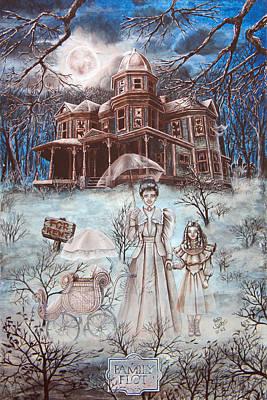 Nightsky Painting - Family Plot by Kathy Szarko