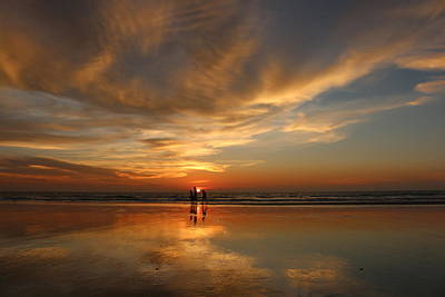 Photograph - Family Reflections At Sunset - 2 by Christy Pooschke