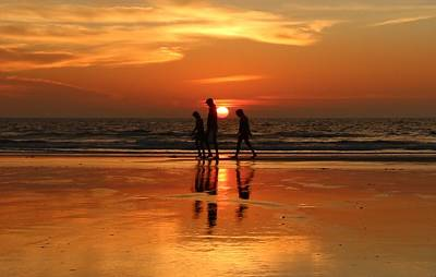 Photograph - Family Reflections At Sunset - 1 by Christy Pooschke