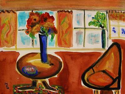 Family Room Corner Original by Mary Carol Williams