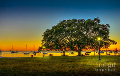 Park Benches Photograph - Family Sunset by Marvin Spates
