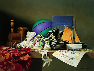 Traditional Still Life Painting - Family Ties by Graham Braddock