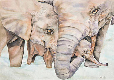 Animal Portrait Painting - Family Ties by Kimberly Lavelle