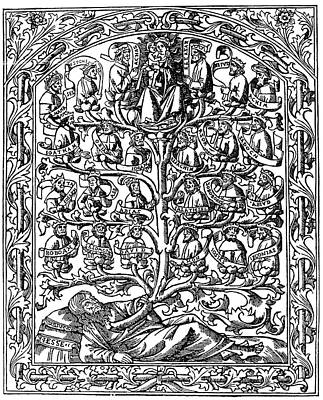 1506 Painting - Family Tree, 1506 by Granger