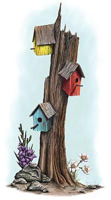 Family Tree Art Print by Dana Alfonso